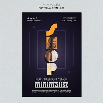 Creative minimalist poster template