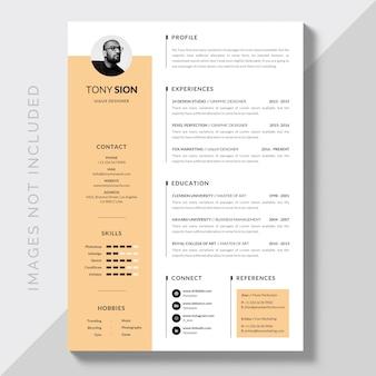 Creative minimalist resume curriculum vitae