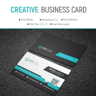 Creative mockup of business card