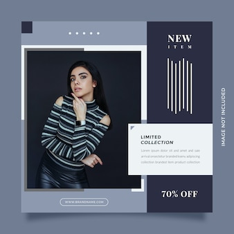 Creative and modern design social media post and web banner template for digital marketing