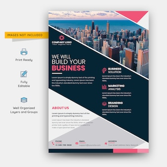 Creative and modern flyer template