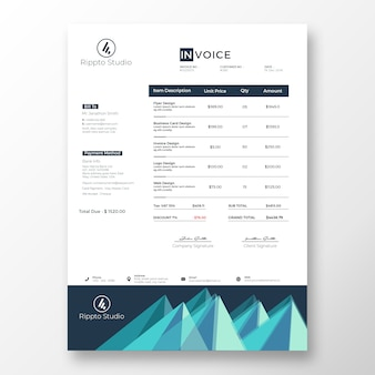 Creative modern invoice template