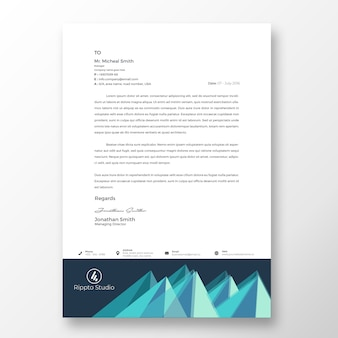 Creative modern letterhead template