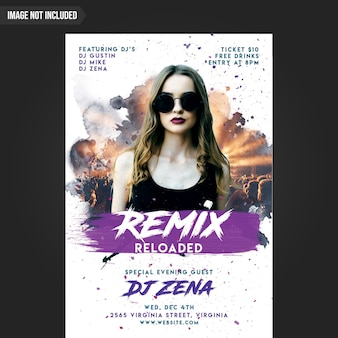 Creative party flyer template cmyk ready