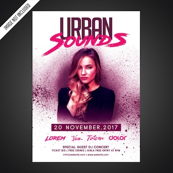 Creative party flyer template
