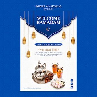 Creative ramadan print template