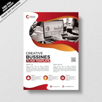 Creative red business flyer template