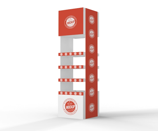 Creative red exhibitor mock-up