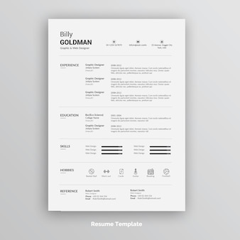 Creative resume or cv template
