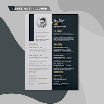 Creative resume or cv
