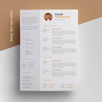 Creative resume design with sidebar