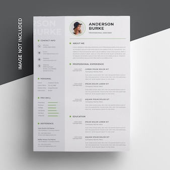 Creative resume  with sidebar