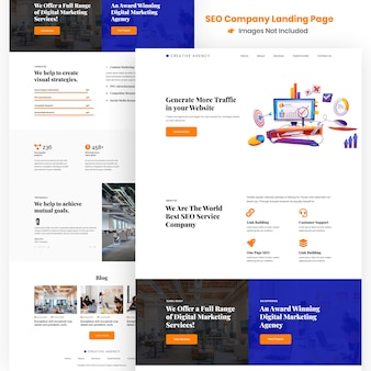 Creative seo agency website and apps development landing page