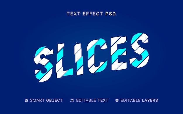 크리에이티브 슬라이스 텍스트 효과 무료 PSD 파일