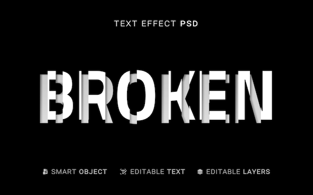 Creative sliced text effect
