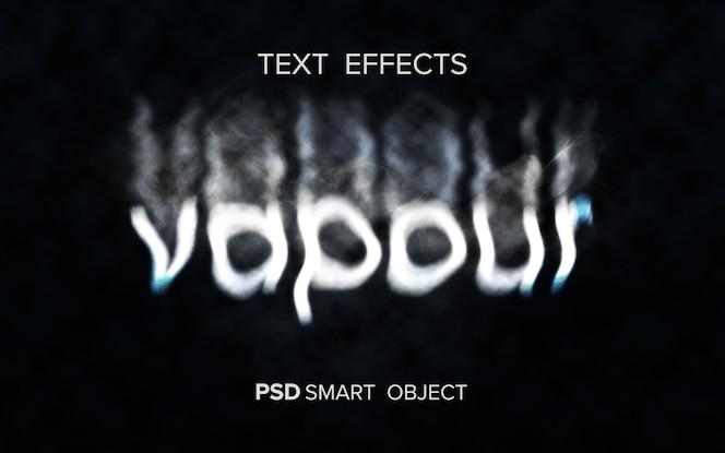 Креативный текстовый эффект дыма