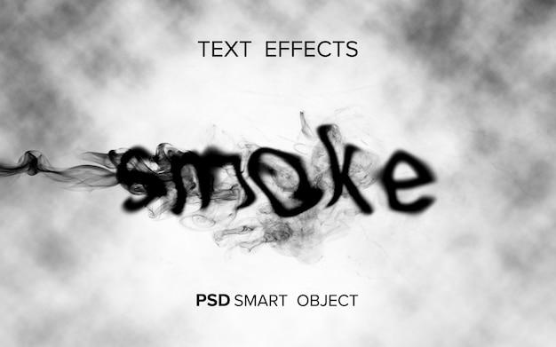Effetto testo fumo creativo