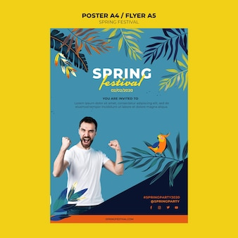 Creative spring poster template