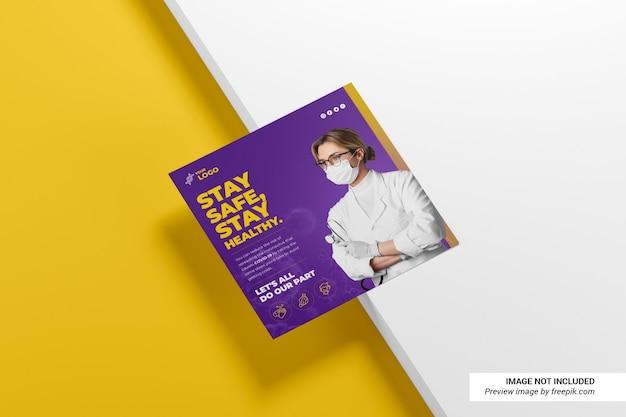 Creative square flyer mockup