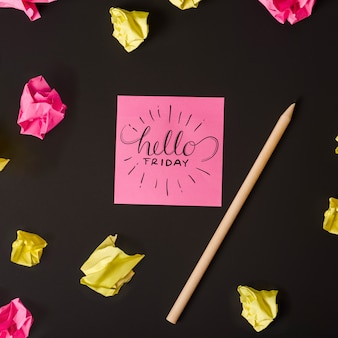 Creative sticky notes mockup