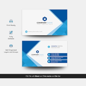 Creative and stylish business card template