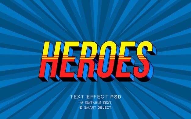 Креативный текстовый эффект супергероя