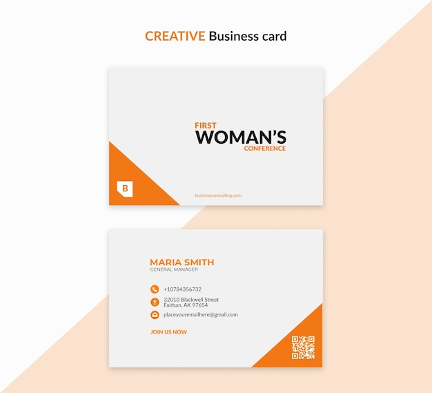 Creative template for business woman
