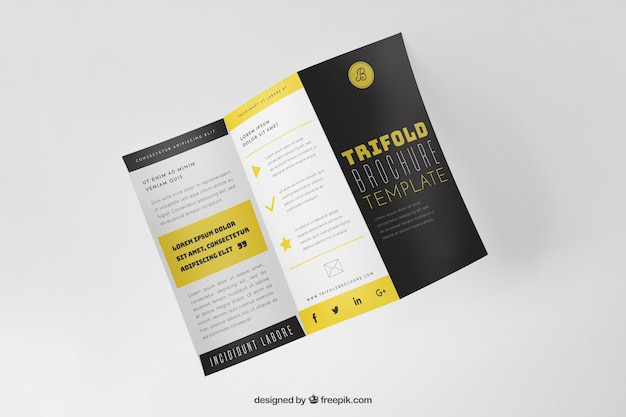 Trifold Mockup Vectors, Photos and PSD files | Free Download
