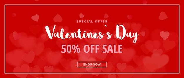 Creative valentines sale mockup