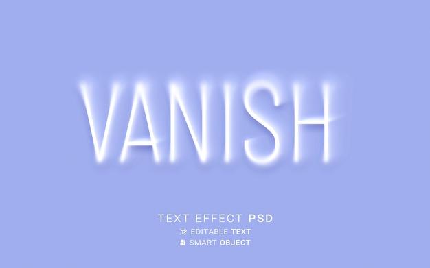 Creative vanishing text effect