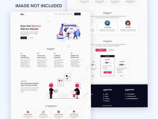 クリエイティブなウェブサイトのランディングページ