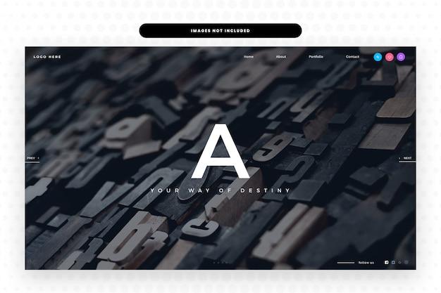 Creative website template,