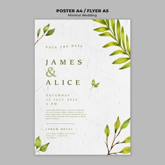 Creative wedding flyer template