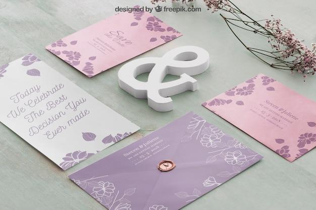 Mockup di matrimonio creativo Psd Gratuite