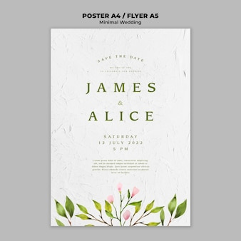 Creative wedding poster template