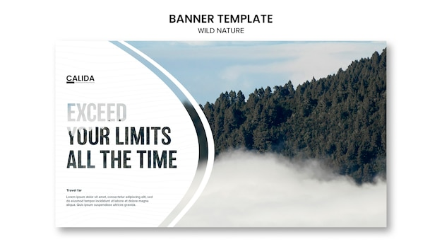 Creative wild nature banner template