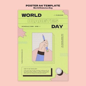 Creative world diabetes day print template