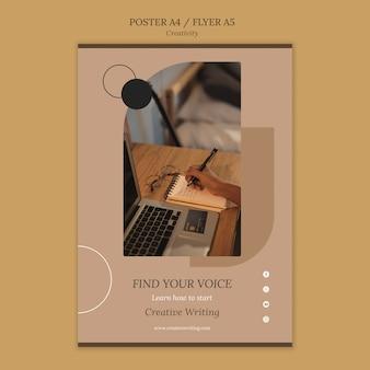 Modello di stampa di scrittura creativa