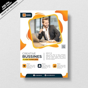 Creative yellow  business flyer template style