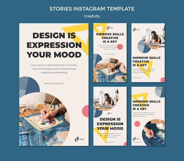 創造性の概念のinstagramの物語