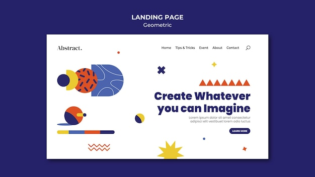 Creativity concept landing page