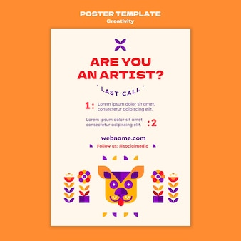 Шаблон плаката концепции творчества