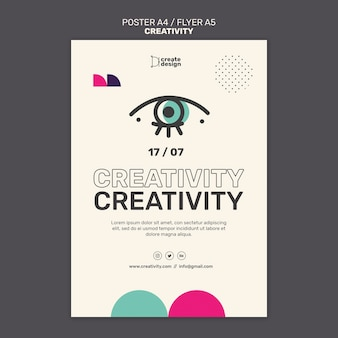 창의성 개념 포스터 템플릿