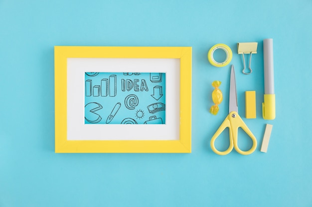 Creativity concept with frame