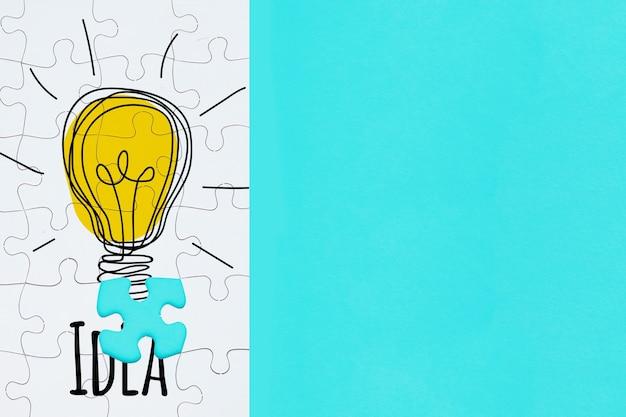 Концепция творчества с головоломкой