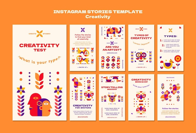 創造性インスタグラムストーリーテンプレート