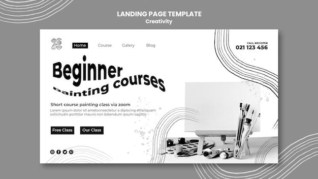 創造性のランディングページテンプレート Premium Psd