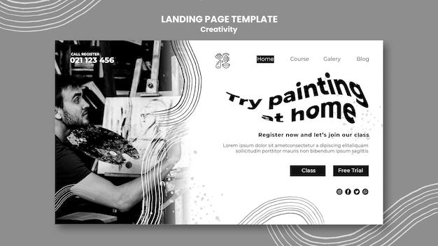 創造性のランディングページテンプレート