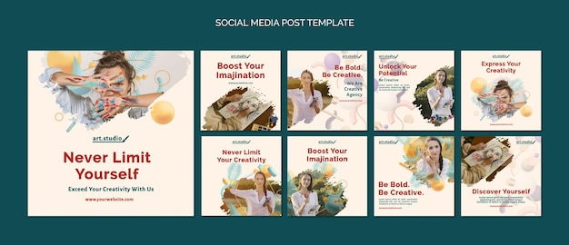 Creativity social media posts