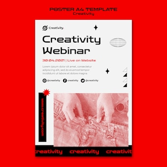 Creativity webinar poster template